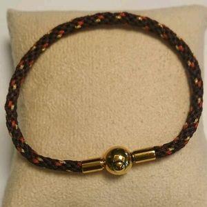 NEW Braided Unisex Bracelet Brown Orange Gold